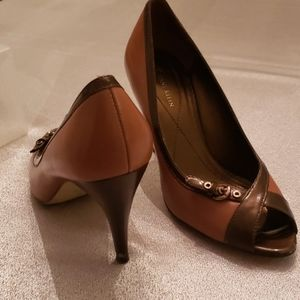 Brown and Camel Anne Klein 3 inch heels size 7